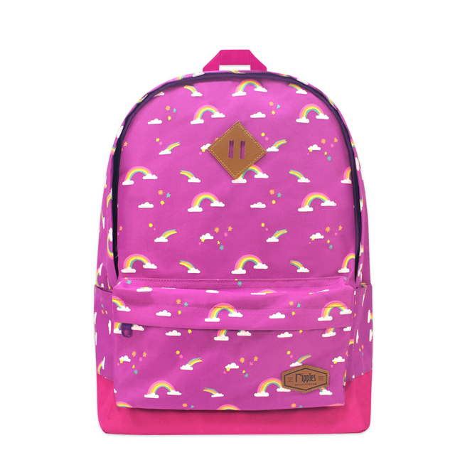 Rainbow School Backpack (Purple)