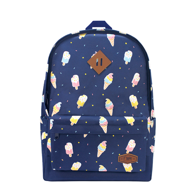 Ice Cream School Backpack (Navy Blue)