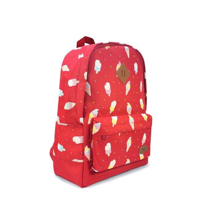 Ice Cream School Backpack (Red)