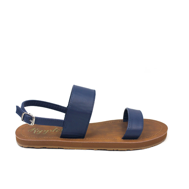 [PROMO] Isabel Double Strap Sandals (Navy Blue)