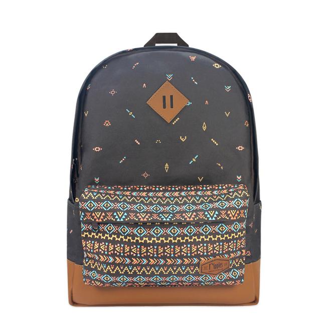 Arika Aztec School Backpack (Brown)