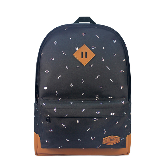 Arika Aztec School Backpack (Black)