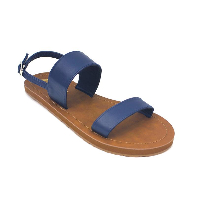 5f5fec4ca5 [PROMO] Isabel Double Strap Sandals (Navy Blue)
