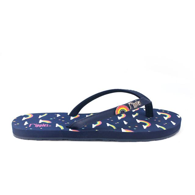 [SALE] Rainbow Ladies Flip Flops (Navy Blue)
