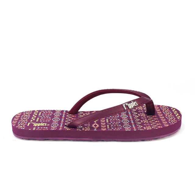 Arika Aztec Ladies Flip Flops (Maroon Purple)