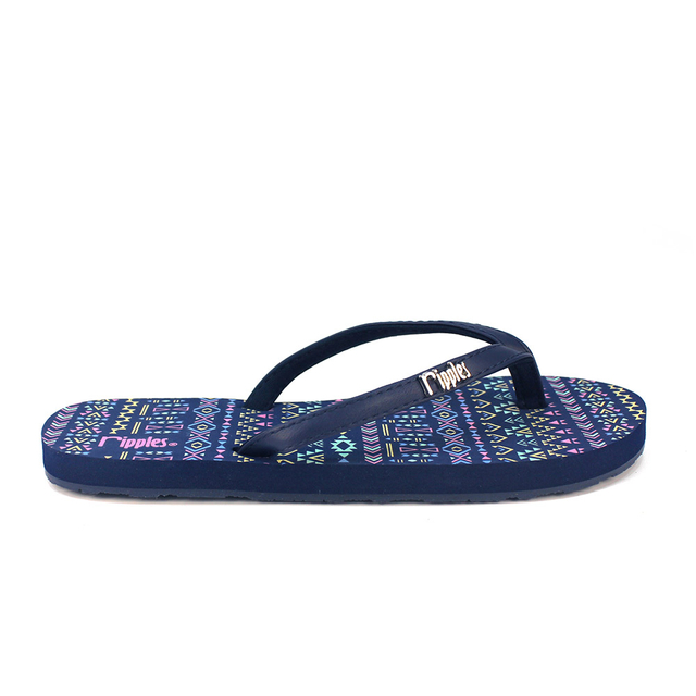 Arika Aztec Ladies Flip Flops (Navy Blue)