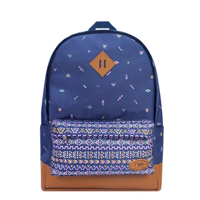 Arika Aztec School Backpack (Navy Blue)