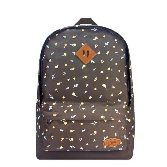 Little Florals School Backpack (Brown)