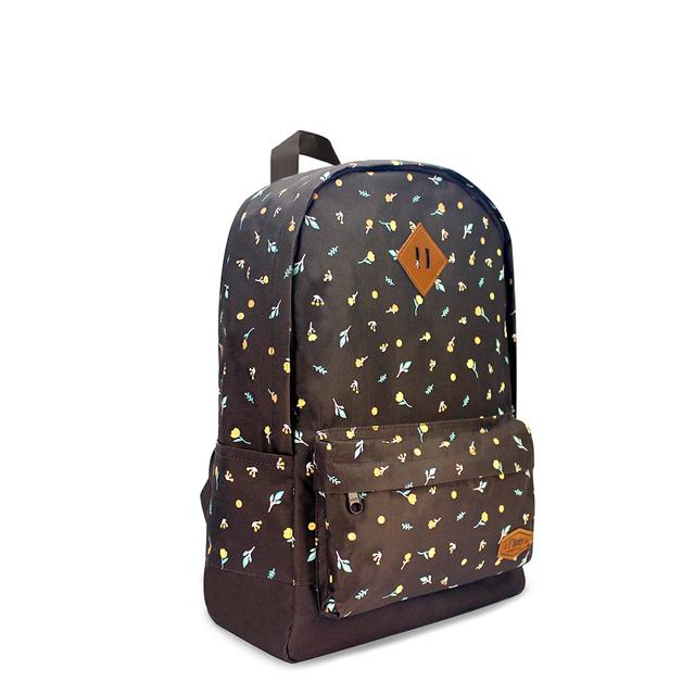 [SALE] Little Florals School Backpack (Brown)