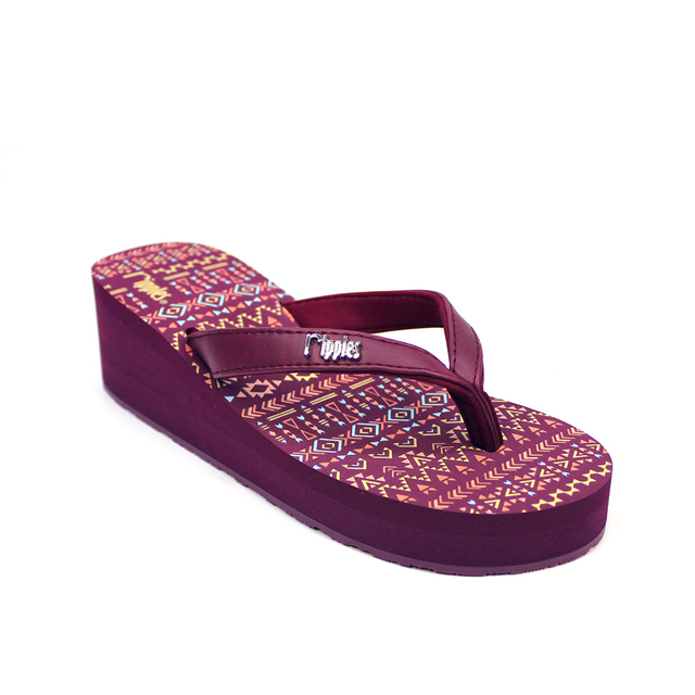 Arika Aztec Ladies Wedges (Maroon Purple)