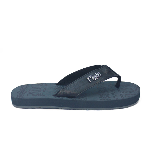 Arika Aztec Laser Men Flip Flops (Dark Grey)