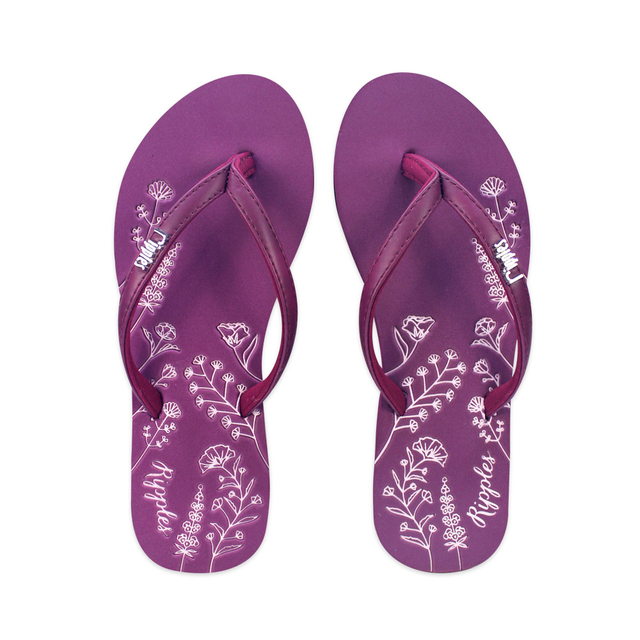 Estella Floral Ladies Sandals (Maroon)