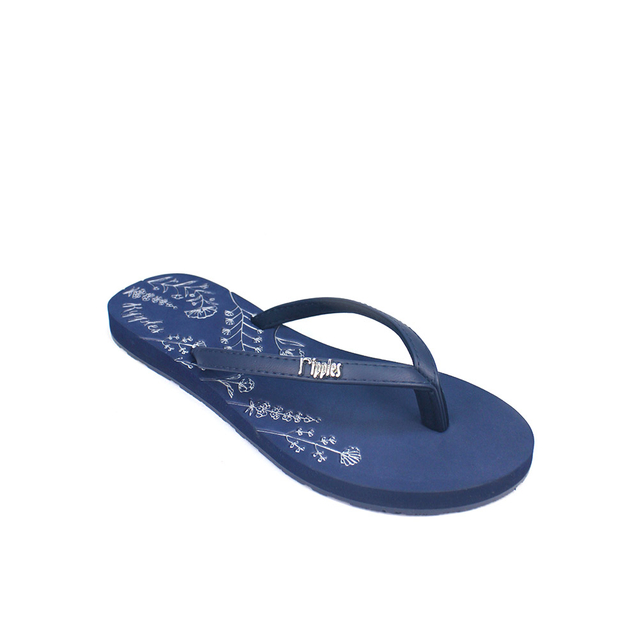 Estella Floral Ladies Sandals (Navy Blue)