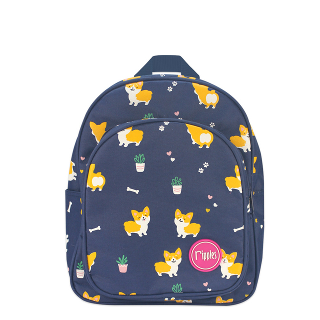[PROMO] Corgi Dogs Kids Backpack (Navy Blue)