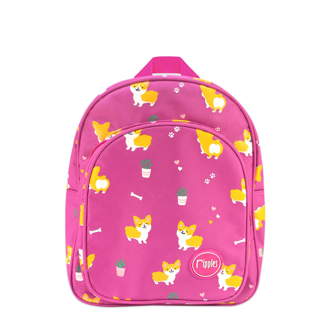 Corgi Dogs Kids Backpack (Pink)