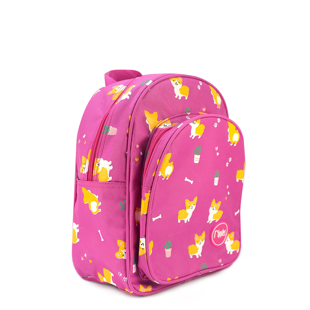 [PROMO] Corgi Dogs Kids Backpack (Pink)
