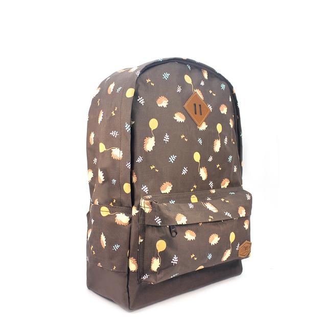 [SALE] Hedgehog School Backpack (Brown)