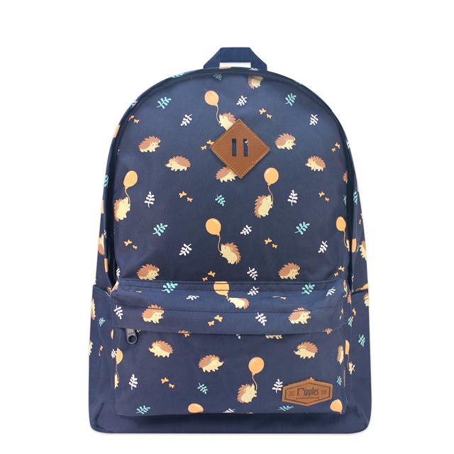 Hedgehog School Backpack (Navy Blue)