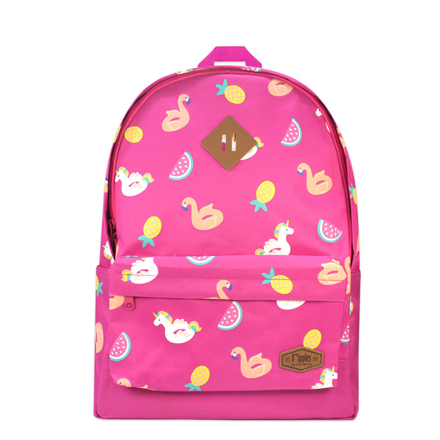 Summer Floats School Backpack (Pink)
