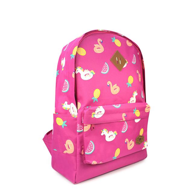 Summer Floats School Backpack (Pink)
