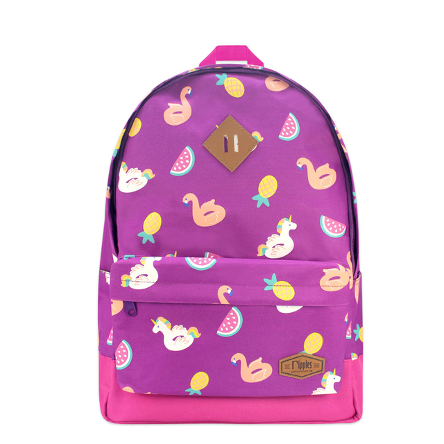 Summer Floats School Backpack (Purple)