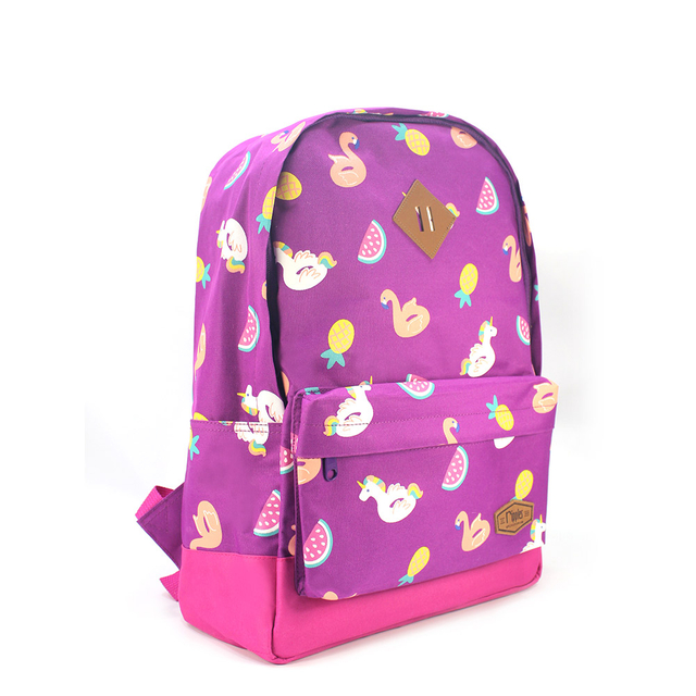 Summer Floats School Backpack (Purple)