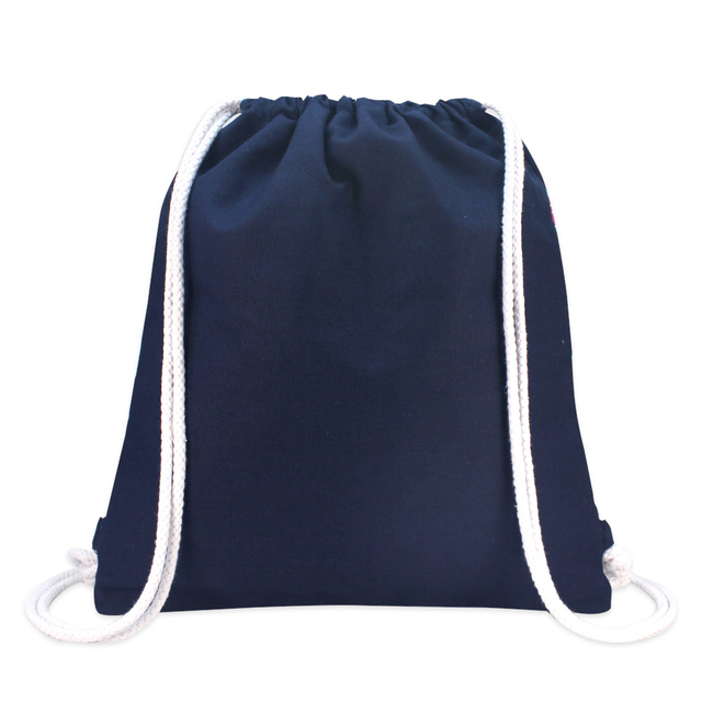 Summer Floats Ladies Drawstring Backpack (Navy Blue)