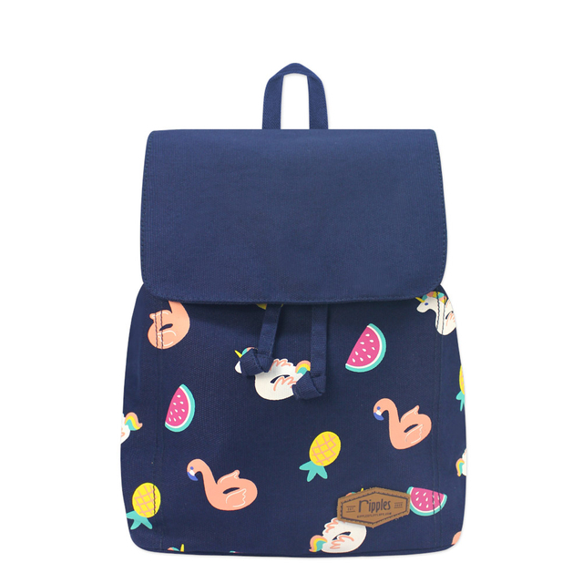 Summer Floats Ladies Backpack (Navy Blue)