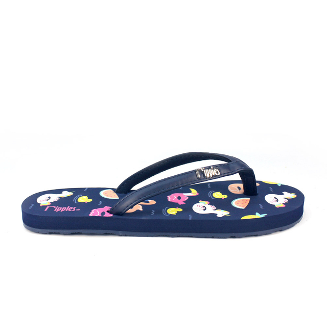 [SALE] Summer Floats Ladies Flip Flops (Navy Blue)