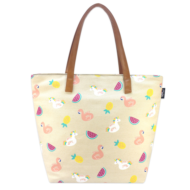 Summer Floats Tote Bag (Natural)