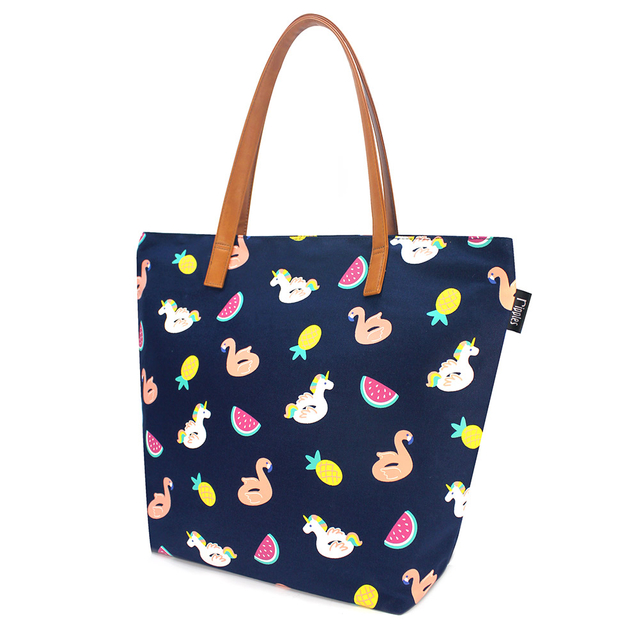 Summer Floats Tote Bag (Navy Blue)
