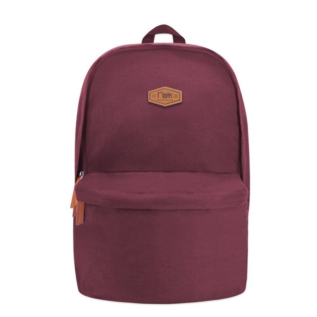 Sienna Canvas Backpack (Maroon)