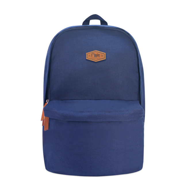 Sienna Canvas Backpack (Navy Blue)