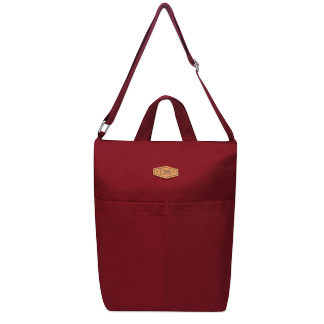 Faith Canvas Sling Bag (Maroon)