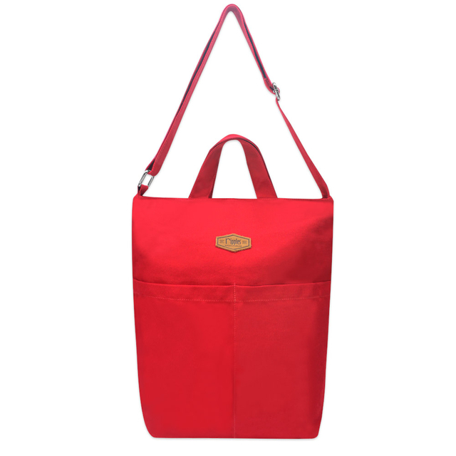 Faith Canvas Sling Bag (Red)