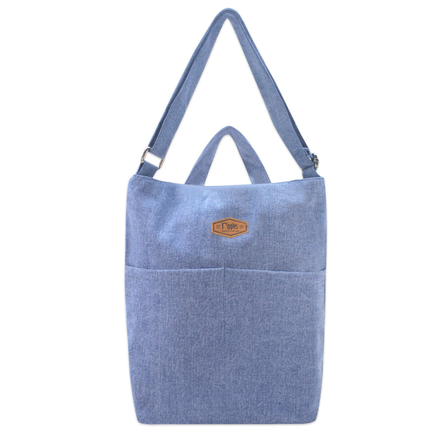 Faith Denim Sling Bag (Light Wash Denim)