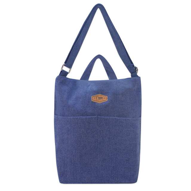 Faith Denim Sling Bag (Mid Blue Denim)