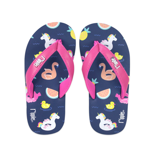 Summer Floats Little Kids Wedge (Navy Blue)