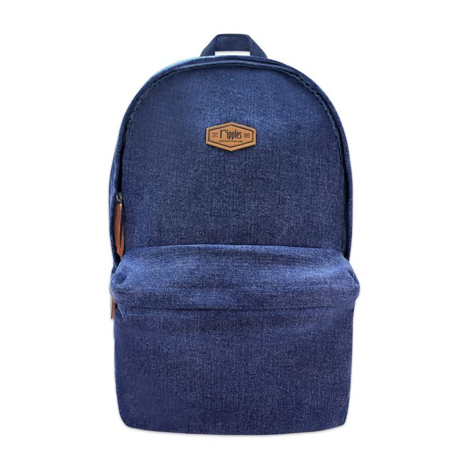 Sienna Denim Backpack (Mid Blue Wash)