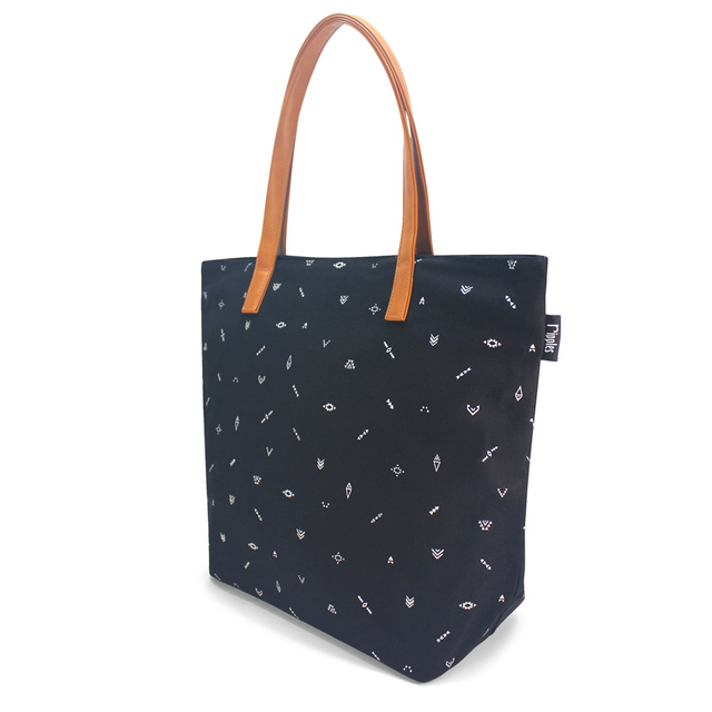 Arika Aztec Tote Bag (Black)