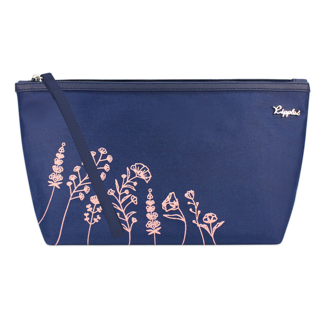 [PROMO] Estella Floral Cosmetic Pouch (Navy Blue)