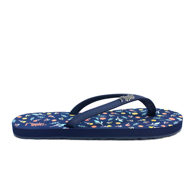[SALE] Little Florals Ladies Flip Flops (Navy Blue)
