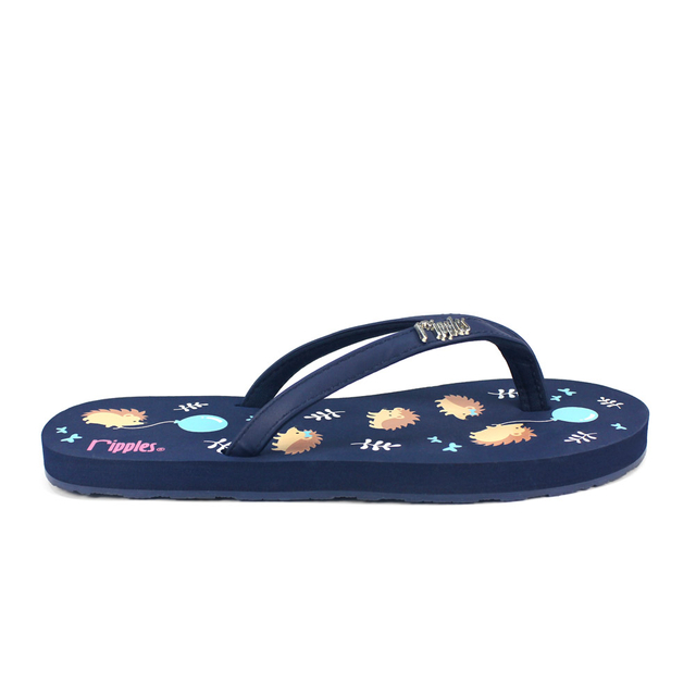 [SALE] Hedgehog Ladies Flip Flops (Navy Blue)
