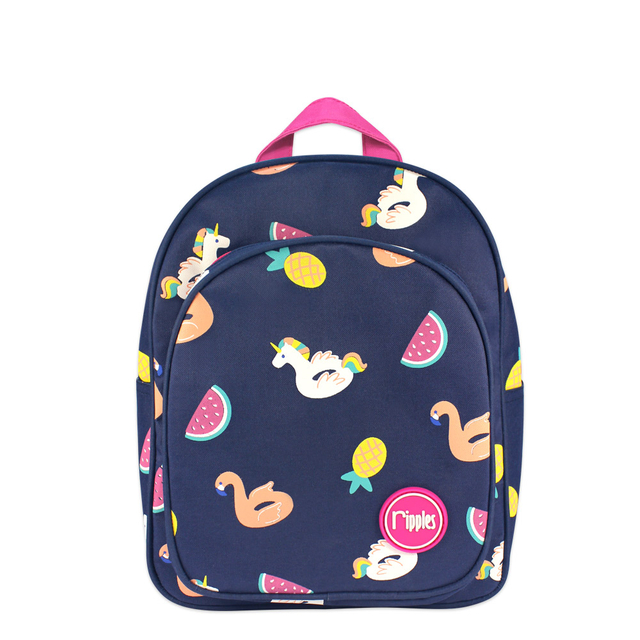 Summer Floats Kids Backpack (Navy Blue)