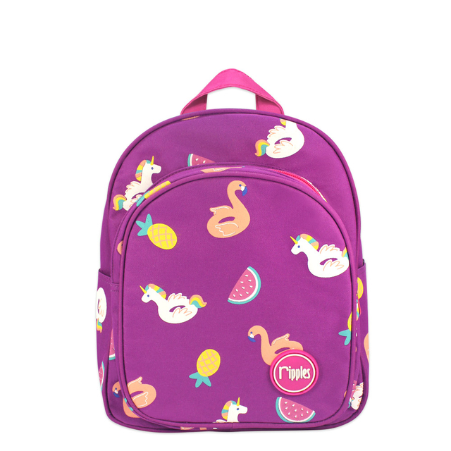 Summer Floats Kids Backpack (Purple)