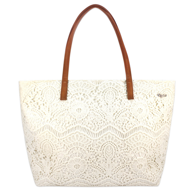 Lace Handbag (Cream White)