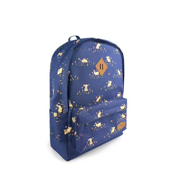 [PROMO] Meadow Rabbits School Backpack (Navy Blue)