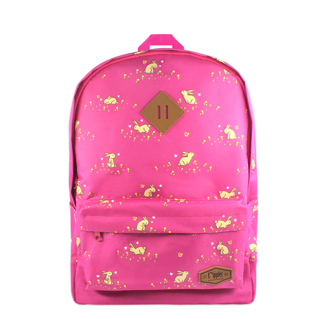 Meadow Rabbits School Backpack (Pink)