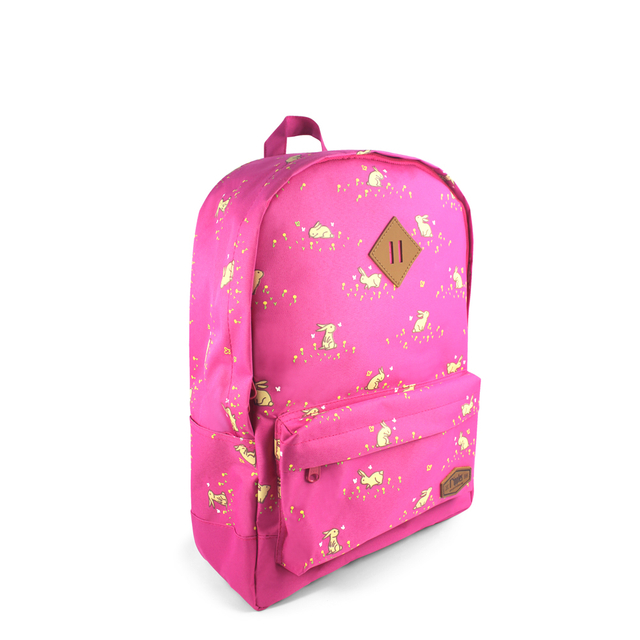 [PROMO] Meadow Rabbits School Backpack (Pink)