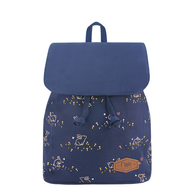 Meadow Rabbits Ladies Backpack (Navy Blue)
